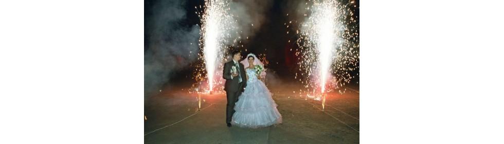 Пиротехнические свадебные фонтаны