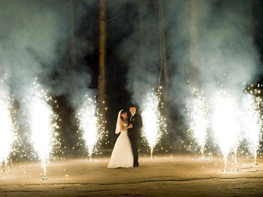 Свадебные сценические фонтаны и спецэффекты